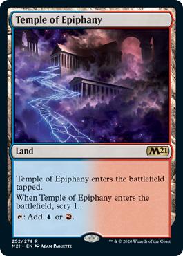 《天啓の神殿/Temple of Epiphany》[M21] 土地R