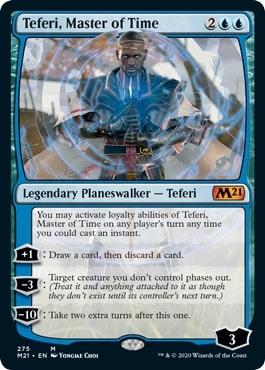 275《時の支配者、テフェリー/Teferi, Master of Time》[M21-BF] 青R