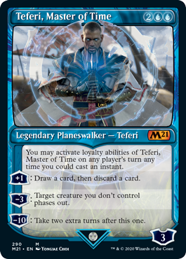 【Foil】290■ショーケース■《時の支配者、テフェリー/Teferi, Master of Time》[M21-BF] 青R