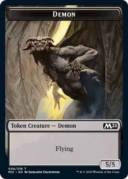 《デーモントークン/Demon Token》[M21] 黒