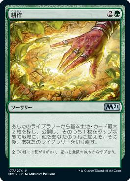 『予約シングル』《耕作/Cultivate》[M21] 緑U
