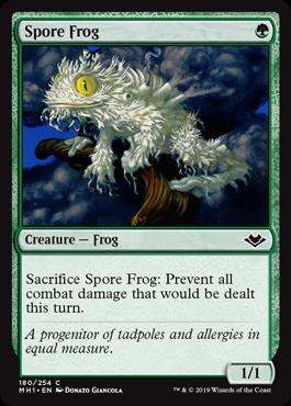《胞子カエル/Spore Frog》[MH1] 緑C
