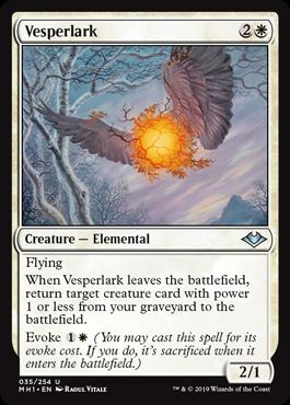 《夕暮れヒバリ/Vesperlark》[MH1] 白U