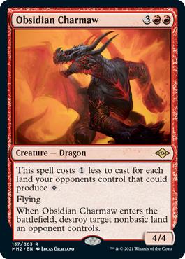 《黒曜石の焦がし口/Obsidian Charmaw》[MH2] 赤R