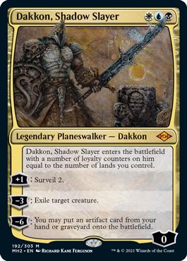 《影の処刑者、ダッコン/Dakkon, Shadow Slayer》[MH2] 金R
