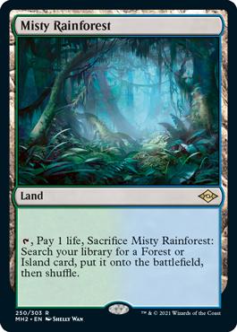 《霧深い雨林/Misty Rainforest》[MH2] 土地R