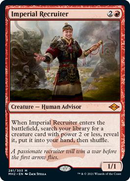 《帝国の徴募兵/Imperial Recruiter》[MH2] 赤R