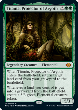 《アルゴスの庇護者、ティタニア/Titania, Protector of Argoth》[MH2] 緑R