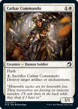 《聖戦士の奇襲兵/Cathar Commando》[MID] 白C