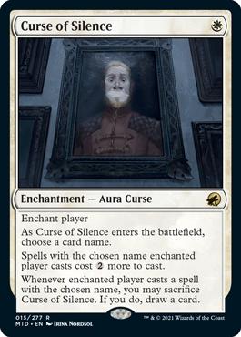 《静寂の呪い/Curse of Silence》[MID] 白R