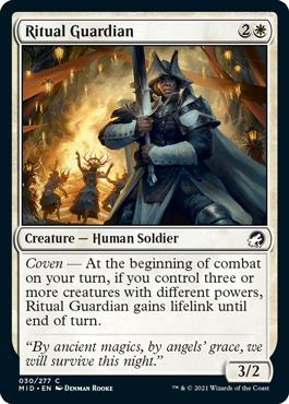 《儀式の守護者/Ritual Guardian》[MID] 白C