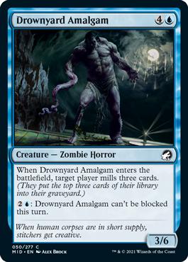 《溺墓の融合体/Drownyard Amalgam》[MID] 青C