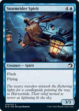《嵐乗りの精霊/Stormrider Spirit》[MID] 青C