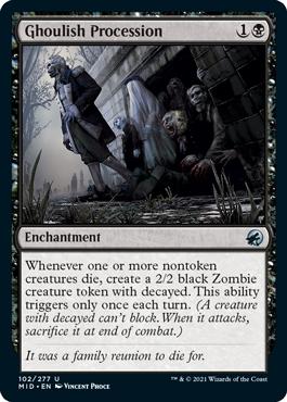 《グールの行進/Ghoulish Procession》[MID] 黒U