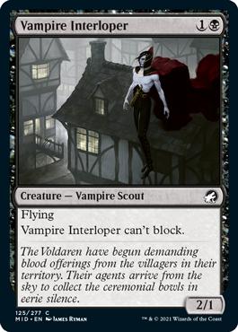 《吸血鬼の侵入者/Vampire Interloper》[MID] 黒C