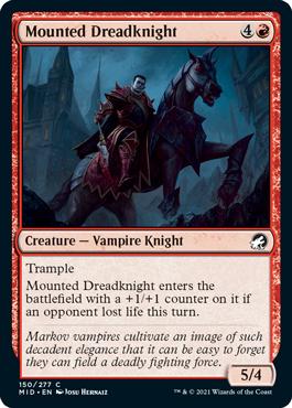 《馬上の戦慄騎士/Mounted Dreadknight》[MID] 赤C