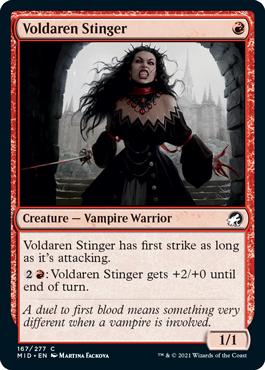 《ヴォルダーレンの刺剣士/Voldaren Stinger》[MID] 赤C