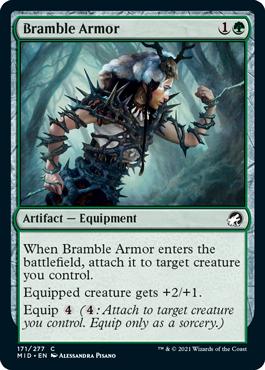 《棘茨の鎧/Bramble Armor》[MID] 緑C