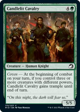 《蝋燭明かりの騎兵/Candlelit Cavalry》[MID] 緑C