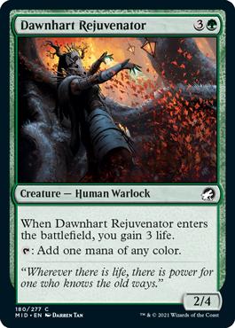 《ドーンハルトの再生者/Dawnhart Rejuvenator》[MID] 緑C