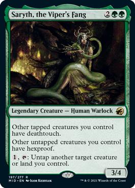 《バイパーの牙、サリス/Saryth, the Viper's Fang》[MID] 緑R