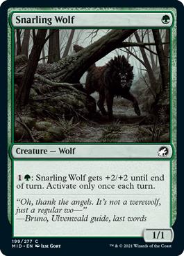 《うなる狼/Snarling Wolf》[MID] 緑C