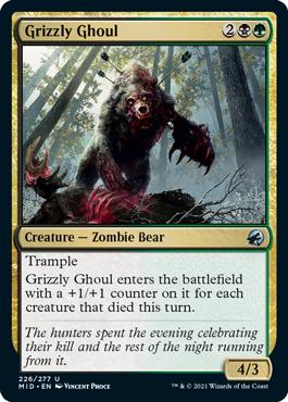 《灰色熊のグール/Grizzly Ghoul》[MID] 金U