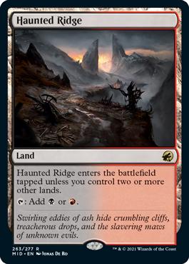 《憑依された峰/Haunted Ridge》[MID] 土地R