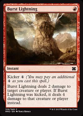 《噴出の稲妻/Burst Lightning》[MM2] 赤C