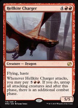 《ヘルカイトの突撃者/Hellkite Charger》[MM2] 赤R
