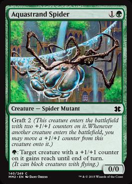 《水辺の蜘蛛/Aquastrand Spider》[MM2] 緑C
