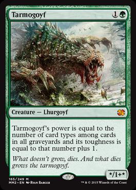 【Foil】《タルモゴイフ/Tarmogoyf》[MM2] 緑R