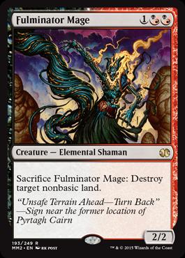 【Foil】《大爆発の魔道士/Fulminator Mage》[MM2] 混R