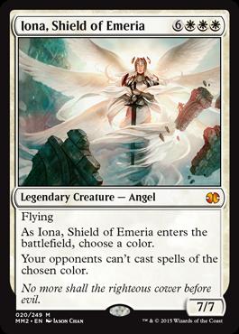 《エメリアの盾、イオナ/Iona, Shield of Emeria》[MM2] 白R