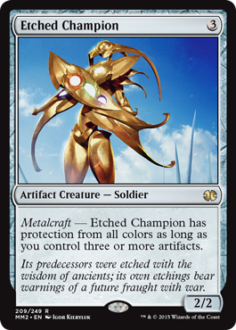 《刻まれた勇者/Etched Champion》[MM2] 茶R