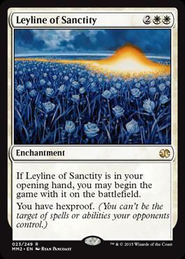 《神聖の力線/Leyline of Sanctity》[MM2] 白R