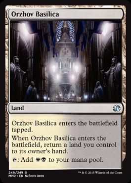 【Foil】《オルゾフの聖堂/Orzhov Basilica》[MM2] 土地U