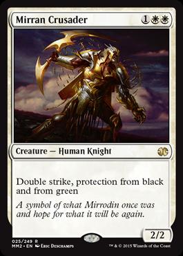 《ミラディンの十字軍/Mirran Crusader》[MM2] 白R