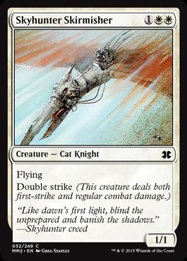 《空狩人の散兵/Skyhunter Skirmisher》[MM2] 白C