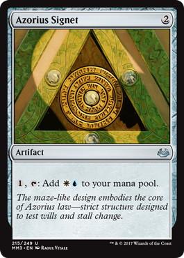《アゾリウスの印鑑/Azorius Signet》[MM3] 茶U