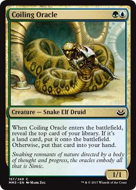 《とぐろ巻きの巫女/Coiling Oracle》[MM3] 金C