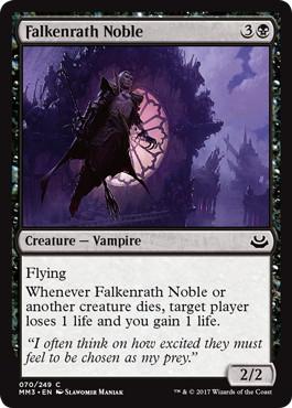 《ファルケンラスの貴族/Falkenrath Noble》[MM3] 黒C