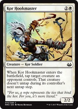 【Foil】《コーの鉤の達人/Kor Hookmaster》[MM3] 白C