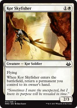 《コーの空漁師/Kor Skyfisher》[MM3] 白C