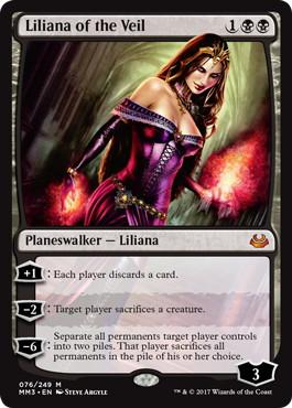 《ヴェールのリリアナ/Liliana of the Veil》[MM3] 黒R