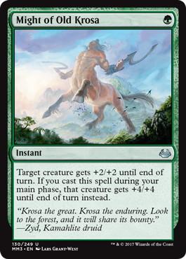 《古きクローサの力/Might of Old Krosa》[MM3] 緑U
