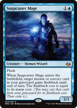 《瞬唱の魔道士/Snapcaster Mage》[MM3] 青R