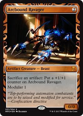 【Foil】《電結の荒廃者/Arcbound Ravager》[MPS] 茶