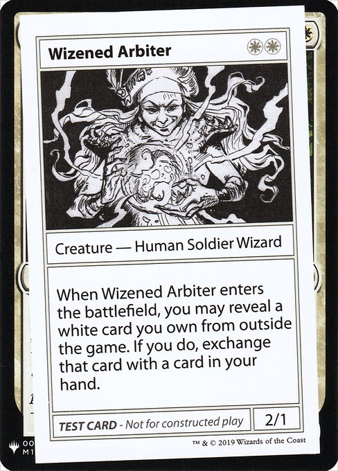 《Wizened Arbiter》[Mystery Booster Playtest Cards] 白