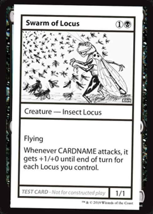 《Swarm of Locus》[Mystery Booster Playtest Cards] 黒